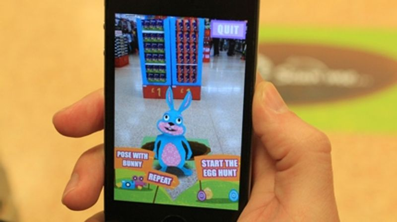 Zappar, the leaders in Augmented Reality (AR)-enabled products and entertainment experiences, has teamed up with Asda supermarket for the UK's first-ever augmented reality enabled Easter Egg Hunt. Asda shoppers will be delighted to set off on an in-store Easter Egg Hunt, guided by an augmented reality Easter Bunny powered by Zappar. The fun will be taking place from 10:00am – 4:30pm on Saturday 23rd March.