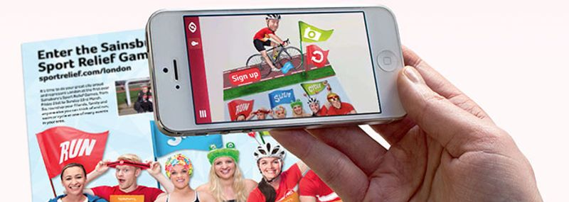 Sport Relief have enlisted the help of augmented reality app Zappar, to bring to life their direct mail campaign with a sprinkling of AR magic. Over one million mailshots will be delivered to homes across London, Glasgow, Cardiff and Manchester, courtesy of the Royal Mail.