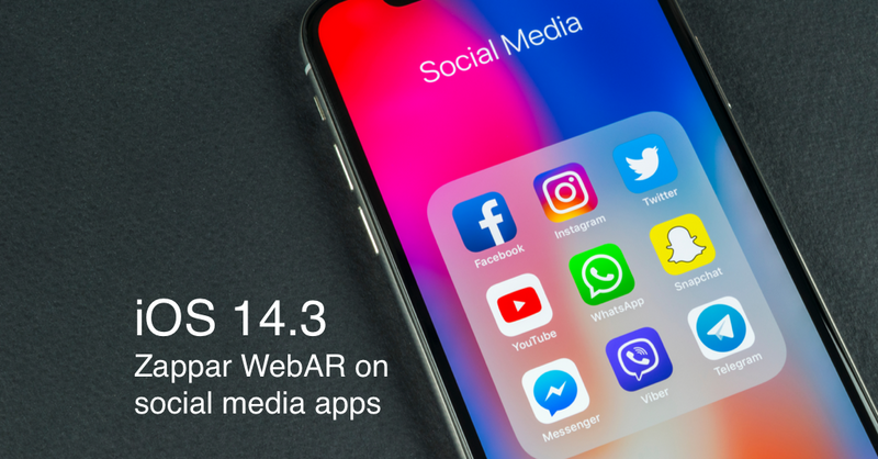 iOS 14.3 users can now enjoy even more seamless access to their WebAR content.