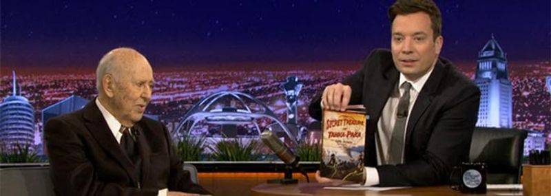 Hollywood legend Carl Reiner demos his new Zappar Powered book on hit US TV show.